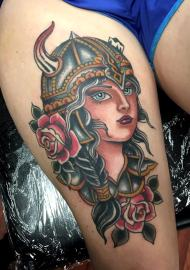 AndrewEdlin_AirwayHeights_VikingGirl_Rose_TraditionalTattoo_cheney-min